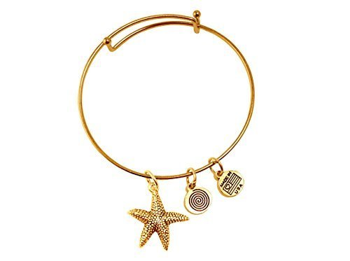 Starfish Gold Bangle Bracelet