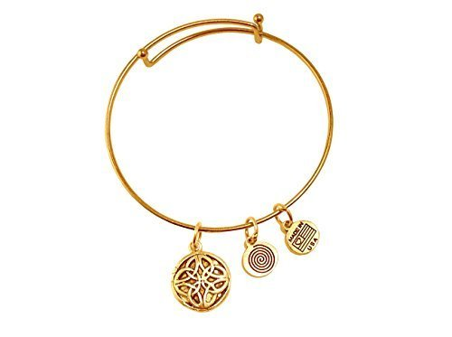 Celtic Circle Gold Bangle Bracelet