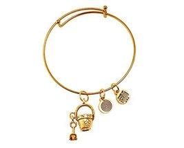 Pail and Shovel Gold Bangle Bracelet