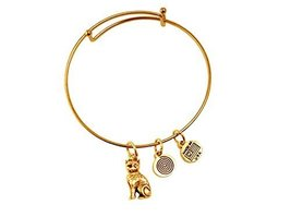 Cat Gold Bangle Bracelet