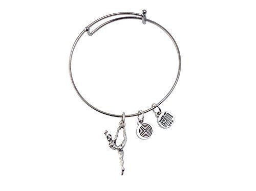 Dancer Silver Bangle Bracelet