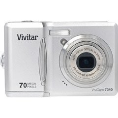Vivitar VIVICAM-7340SLV 7.0MP Camera with 3x Optical Zoom and 2.4-Inch LCD (Silv