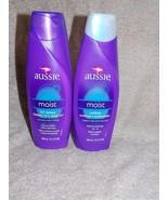 2 Aussie MOIST 2-in-1 Shampoo Cleanse & Conditioner Moisturizes 13.5 oz New - $16.34