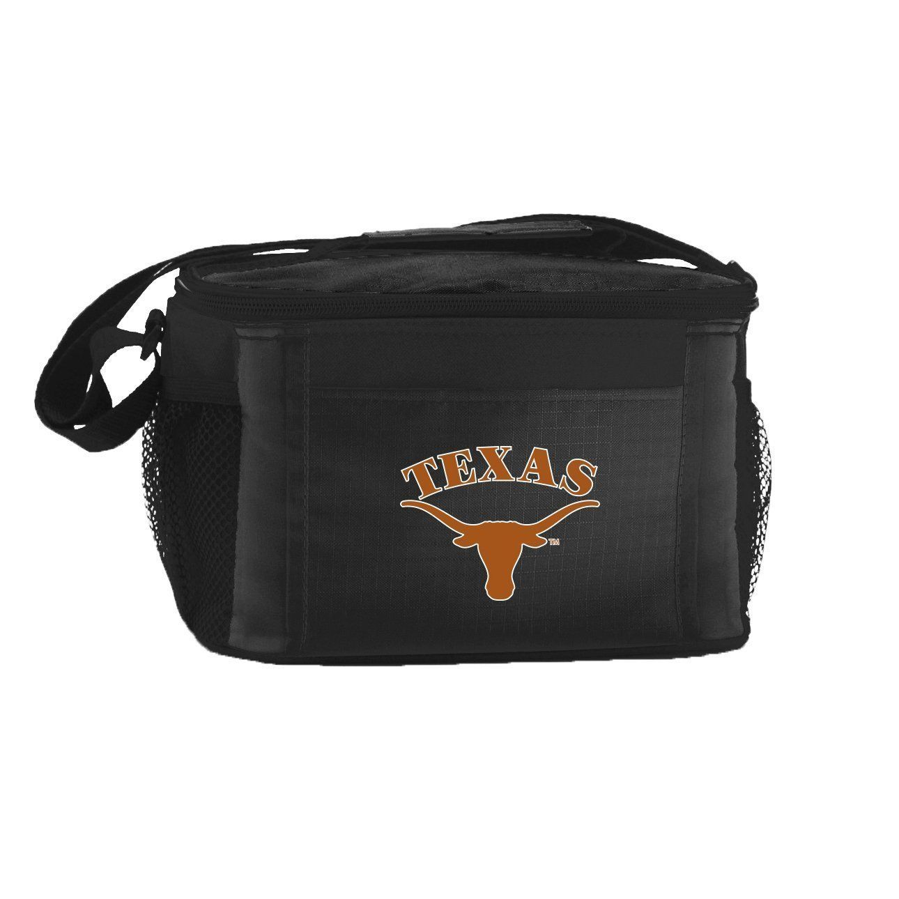 TEXAS LONGHORNS LUNCH TOTE 6 PK BEER SODA TEAM LOGO KOOLER BAG NCAA