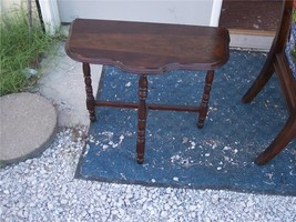 Walnut Demilune Table / Entry Table  (T249) - $199.00