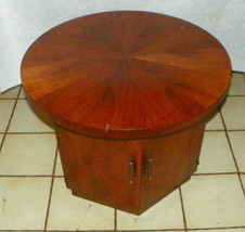 Mid Century Walnut Round End Table / Side Table by Lane  (RP) - $399.00