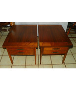 Pair of Mid Century Walnut End Tables / Side Ta... - $499.00