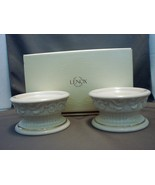 "Lenox ""Versailles"" Pattern Sculptured Pillar Candle Holders NIB  - $29.90"