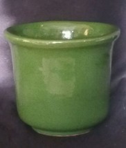 "Vintage Pacific Pottery Green 5"" Jardiniere  - $24.75"