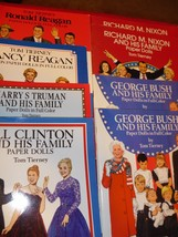 LOT OF 8 TOM TIERNEY PAPER DOLL BOOKS(BUSH, CLINTON,NIXON,TRUMAN, REAGAN) - $79.20