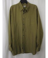Ted Baker Shirt Large Green Plaid Iridescent Long Sleeve Button Down L M... - $39.99