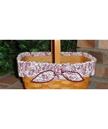 Longaberger Basket Garter Medium Red White Love Letters Fabric Garter Only - $11.83