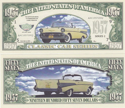 50 Chevy 1957 Classic Chevrolet Novelty Money Bill Lot - $11.87