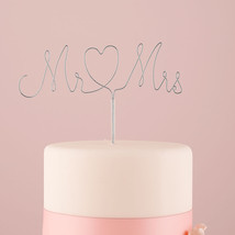 Mr. and Mrs. Wedding Cake Topper Twisted Wire Pick Rustic Reception Gift... - $18.79