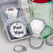 1 Bling Diamond Ring Bottle Opener Favor Wedding Bachelorette Bridal Sho... - $4.93