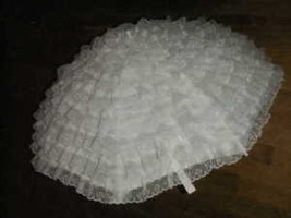 "32"" White  Lace on silk bridal or baby shower umbrella - $37.61"