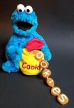 Cookie Monster Plush Sesame Street Feed Me Crinkle Cookies Gund 2002 - $7.91
