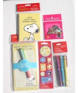 Lot of Peanuts Snoopy Note Pad Pens Cards Stick... - $16.99