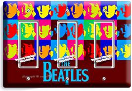 The Beatles Pop Art John George Paul Ringo Triple Gfci Light Switch Cover Decor - $14.57