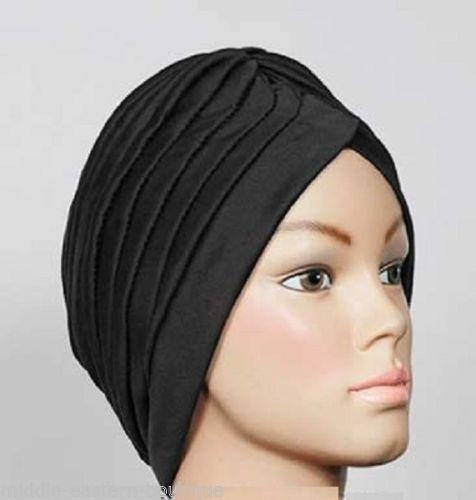One Dozen hair wrap Turban twist pleated womens ladies head cap cover turban - $49.99