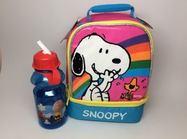 SNOOPY/PEANUTS LUNCHBOX WITH WATER BOTTLE! - $18.19