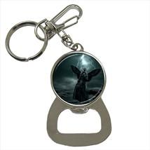 Emo Angel Wing Girl Bottle Opener Keychain and Beer Drink Coaster Set - $7.71+