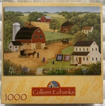 Amish Country Barns 1000 Piece Jigsaw Puzzle Colleen Eubanks RoseArt New Sealed - $9.88