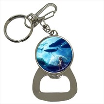 Fantasy Flying Whales Bottle Opener Keychain and Beer Drink Coaster Set - $7.71+