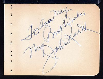 JOHN RAITT Signed on autograph album page