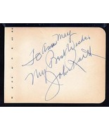 JOHN RAITT Signed on autograph album page - $21.78