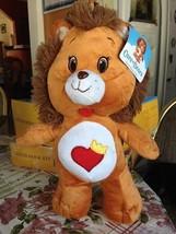 Care Bears Cousins Brave Heart Lion Plush Valentine's Day Rare Color New... - $22.99