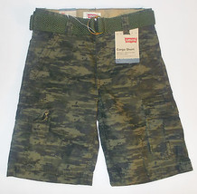 Levi's Boys Camouflage Belted Cargo Shorts Sizes 6, 7 and 7X NWT - $14.99