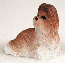 SHIH TZU TAN WHITE  TINY ONES DOG Figurine Stat... - $8.99