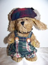 "BOYDS 5.5"" PLUSH DOG INDY (FALL 1997) with HUNTER HAT & COLLAR with STUD... - $5.32"