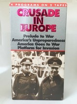 CRUSADE IN EUROPE WWII Documentary VHS Tapes • Black & White 2 Tape Set - $9.85