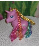 """My Little Pony Pink with Colorful Braided Mane & Tail 9"""" Vinyl """"RARITY"""" Unicorn - $6.89"""