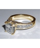 3.01 carat princess cut diamonds fancy engageme... - $6,468.08