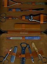 Joy Super Deluxe Manicure Set REX German Chrome Plated Instruments Leath... - $346.50