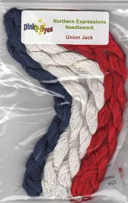 SILK FLOSS PACK for Union Jack cross stitch chart Northern Expressions