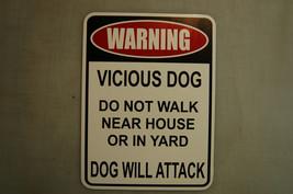 WARNING VICIOUS DOG Beware of Attack Security N... - $5.54 - $8.32