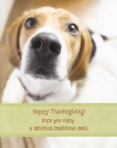 "Greeting Thanksgiving Card ""Happy Thanksgiving Hope You Enjoy a Deliciou... - $1.50"