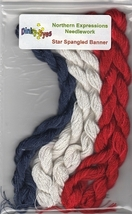 SILK FLOSS PACK for Star Spangled Banner cross stitch chart Northern Exp... - $20.25