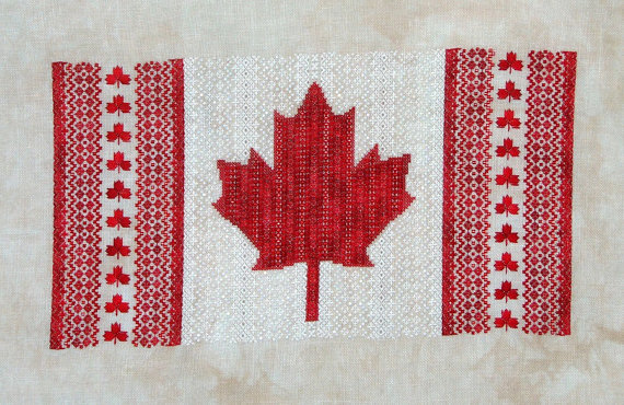 Primary image for Maple Leaf Canada flag patriotic cross stitch chart Northern Expressions