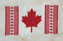 Maple Leaf Canada flag patriotic cross stitch chart Northern Expressions - $13.50