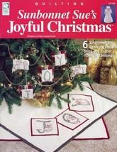 Sunbonnet Sue's Joyful Christmas HOWB Redwork Quilt Pattern Booklet - $4.02