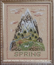 Spring Mountain cross stitch chart Filigram - $9.90