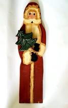 Santa Claus Folk Art Painted Wood - $18.81