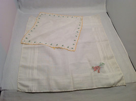 13 Handkerchiefs Lot Colorful Variety Assortment w/ Embroidered or Print Details image 8