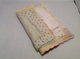 13 Handkerchiefs Lot Colorful Variety Assortment w/ Embroidered or Print Details image 9