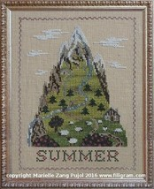 Summer Mountain cross stitch chart Filigram - $9.90